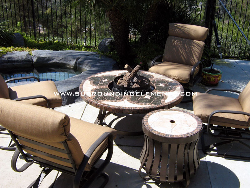 Firepits By Surrounding Elements Backyard Patio Furniture Outdoor - Teak fire pit table