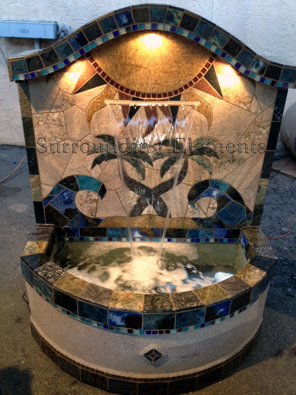 Fountains By Surrounding Elements Located In Orange County