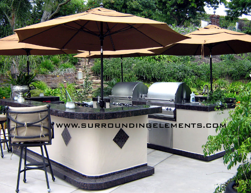 Barbecue Islands By Surrounding Elements Custom Outdoor Barbecue Islands And Bbq Island Grills