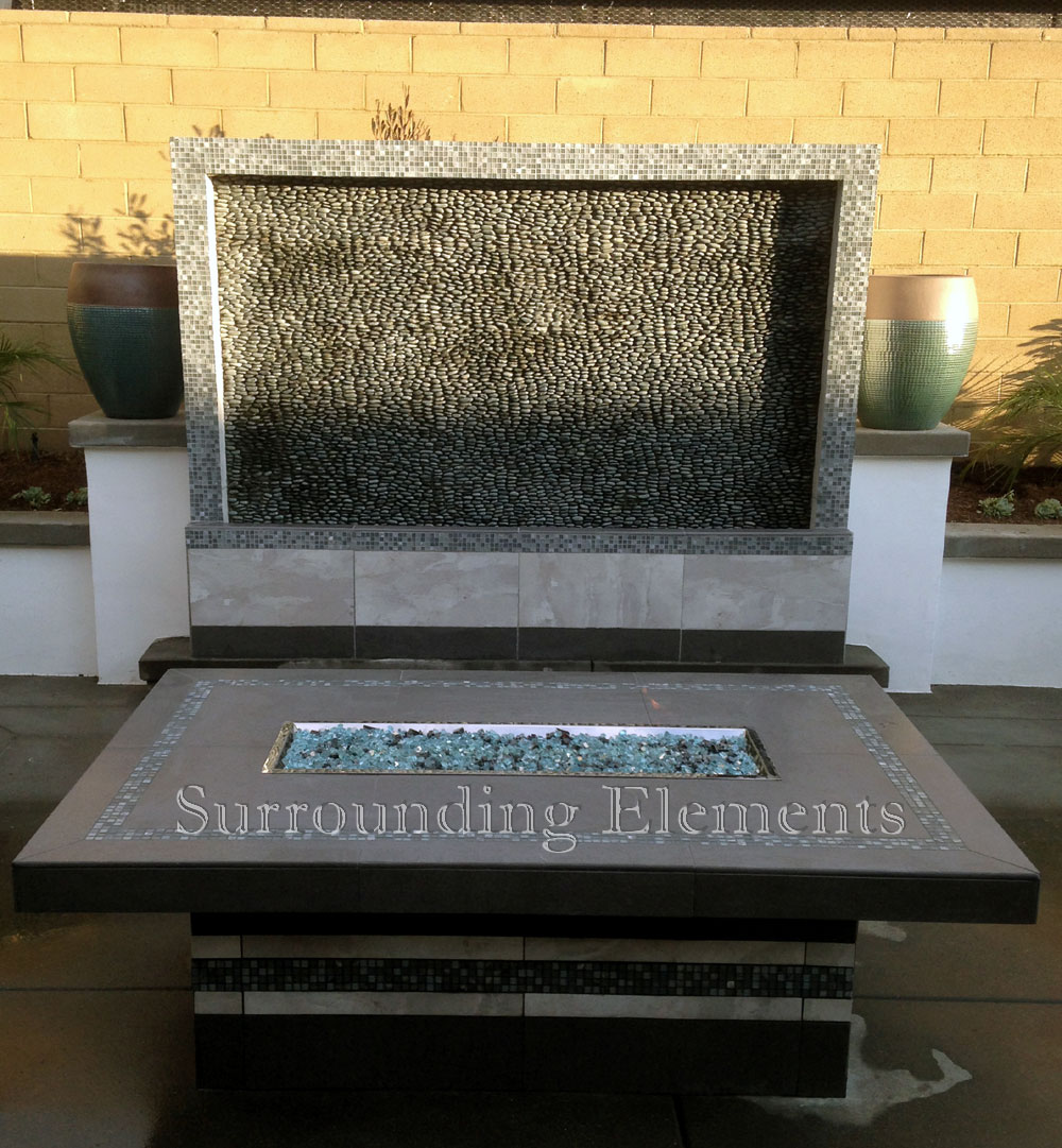 1000 images about mosaic patio dining fire pit tables on for Concreteworks fire table